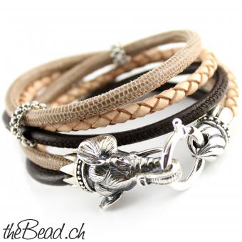 thebead leather bracelet