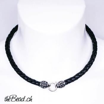 men leather necklace