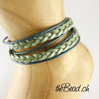 MERMAID anklet made of leather