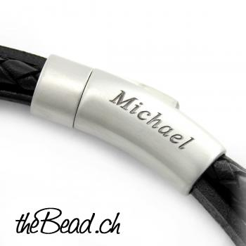 men engraved clasp bracelet