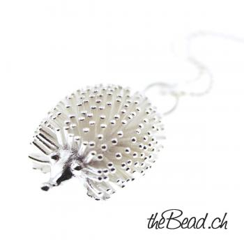 925 Sterling Silber IGEL Collier