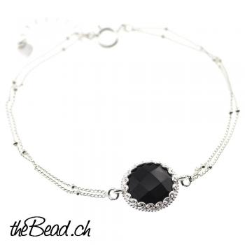 925 Sterling Silber ONYX Armband
