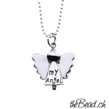 "Silberhalskette "" my Angel """