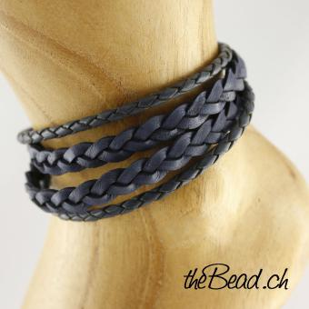 OCEAN anklet made of leather
