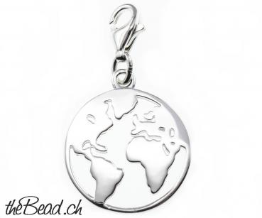grosser Charm EARTH, Silber 925 Sterling