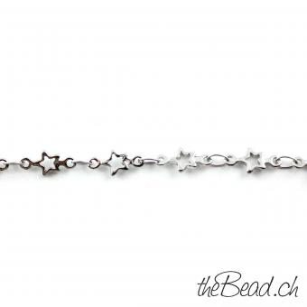 "Anklet "" Stars "" made of stainless steel"