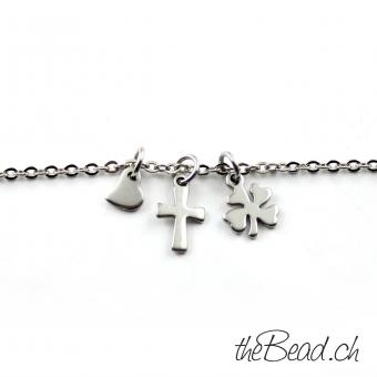 Anklet made of stainless with 3 pendants