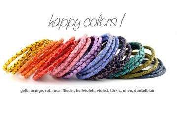 happy colors lederarmbänder by thebead