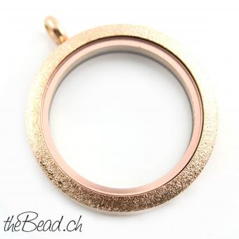 "LA VIE Medaillon in "" Rose Gold """