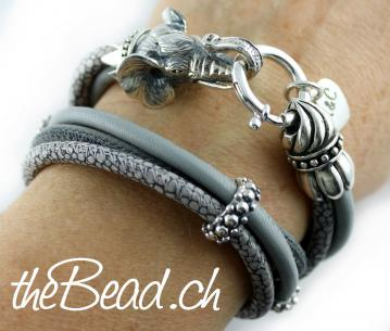 Nappaleder Armband Exclusiv 925 Sterling Silber theBead