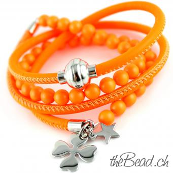 SALE! Neon - Wickelarmband FUNKIE ORANGE