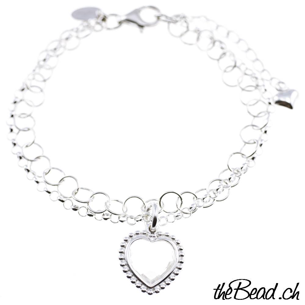Silber Damenarmband mit bergkristall Silber Anhänger ♥ Geschenkidee ... ec7cbeac43