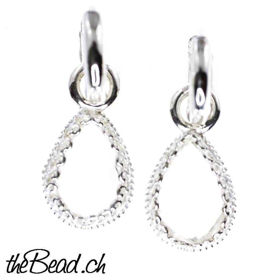 2c7f9b6fa Earrings made of 925 sterling silver and crystal 33 x 10 mm ...