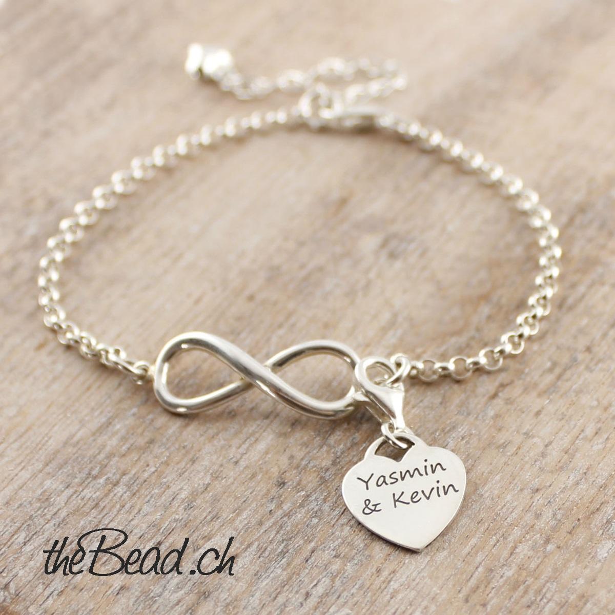 b616f1c3903b Infinity Silberarmband mit Unendlichkeitszeichen ♥ Geschenkidee ...