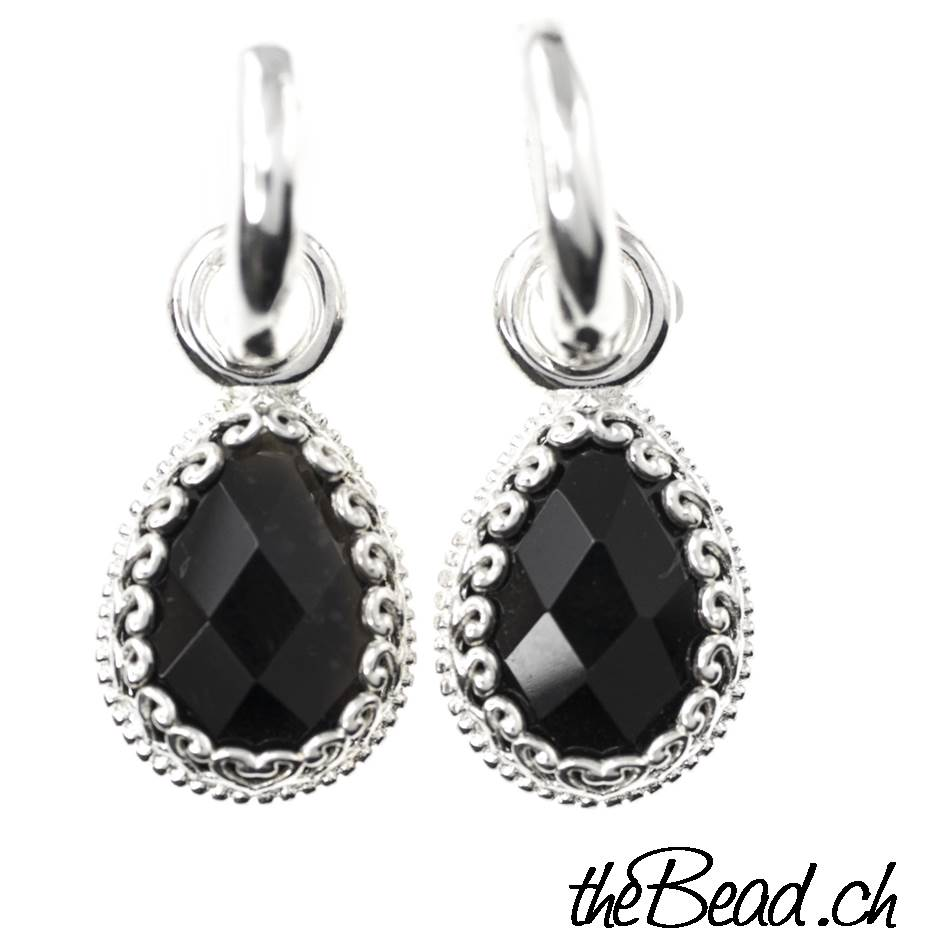 d5007bb79 Earrings made of 925 sterling silver and onyx * Jewelry Shop