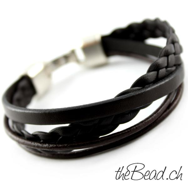 armband fuer herren taupe tolle farbe theBead