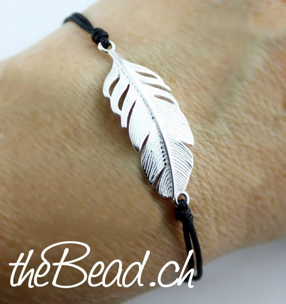 Silber Feder Armband aus 925 sterling Silber
