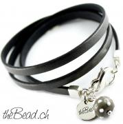 wickelarmband mit 925 sterling silber theBead