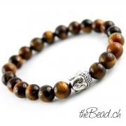 Tigerauge Armband mit Buddha Perle the Bead