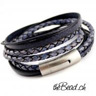 blue passion leather bracelet